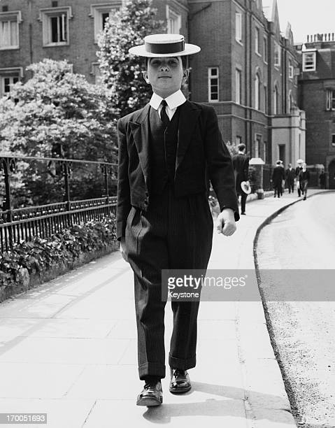 Prince Hassan bin Talal brother of King Hussein of Jordan at Harrow School for the Speech Day ceremonies 23rd June 1961