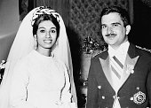 Prince Hassan bin Talal of Jordan marries Sarvath Ikramullah in Karachi Pakistan 28th August 1968 Prince Hassan is the brother of King Hussein of...