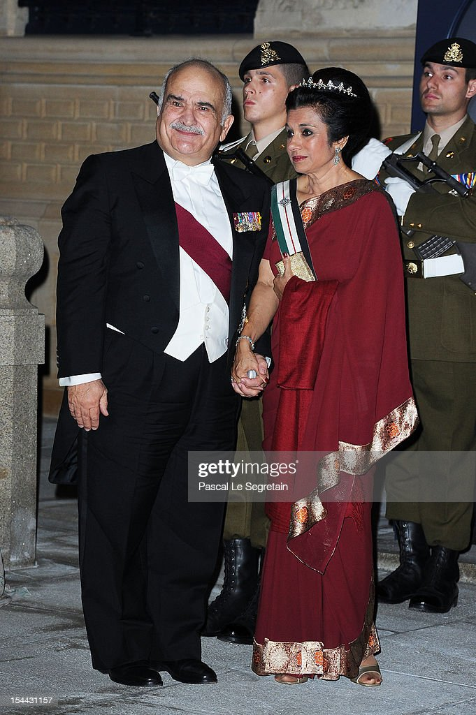 Prince Hassan of Jordan and Princess Sarvath of Jordan attend the Gala dinner for the wedding of Prince Guillaume Of Luxembourg and Stephanie de Lannoy at the Grand-ducal Palace on October 19, 2012 in Luxembourg, Luxembourg. The 30-year-old hereditary Grand Duke of Luxembourg is the last hereditary Prince in Europe to get married, marrying his 28-year old Belgian Countess bride in a lavish 2-day ceremony.