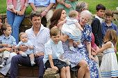 Prince Henrik Carl Joachim Alain Crown Prince Frederik of Denmark and twin Vincent Frederik Minik Alexander Prince Christian Crown Princess Mary of...