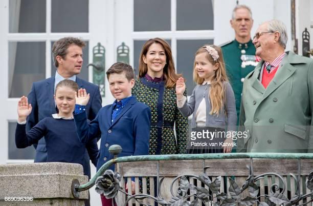 Prince Henrik Crown Prince Frederik Crown Princess Mary Prince Christian Princess Isabella and Princess Josephine attend the 77th birthday...
