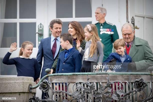 Prince Henrik Crown Prince Frederik Crown Princess Mary Prince Christian Princess Isabella Prince Vincent and Princess Josephine attend the 77th...