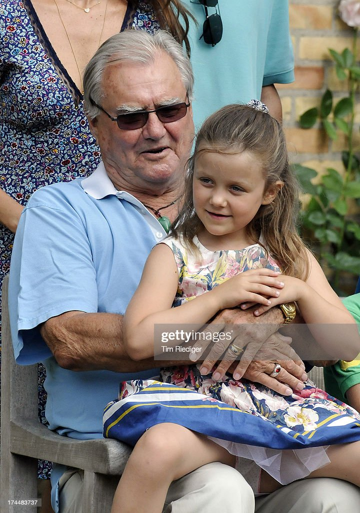 Prince Henrik of Denmark and Princess Isabella of Denmark attend the annual Summer photocall for the Royal Danish family at Grasten Castle on July 26, 2013 in Grasten, Denmark.