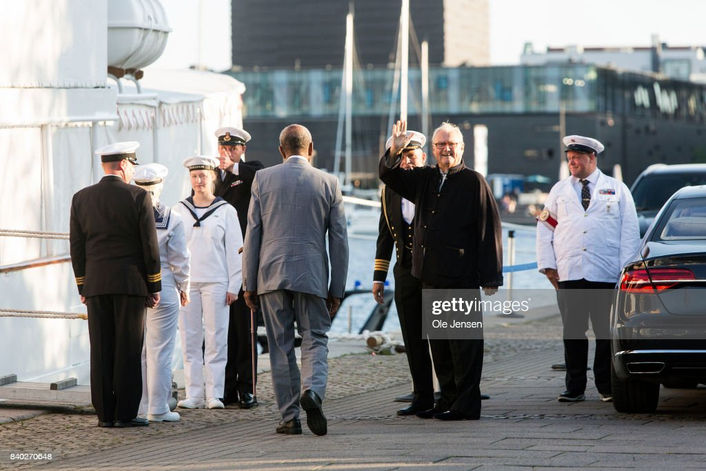 Prince Henrik of Denmark arrives at the dinner party to celebrate the 18th birthday of Prince Nokolai hosted by Queen Margrethe of Denmark on the royal ship Dannebrog at the quay next to Amalienborg on August 28, 2017 in Copenhagen, Denmark. Prince Nikolai is the son of Prince Joachim and his former wife Alexandra Christina Manley. Following this event Dannebrog leaves Copenhagen Tuesday for Bornholm in the Baltic Sea, where the Queen commence a three day visit.