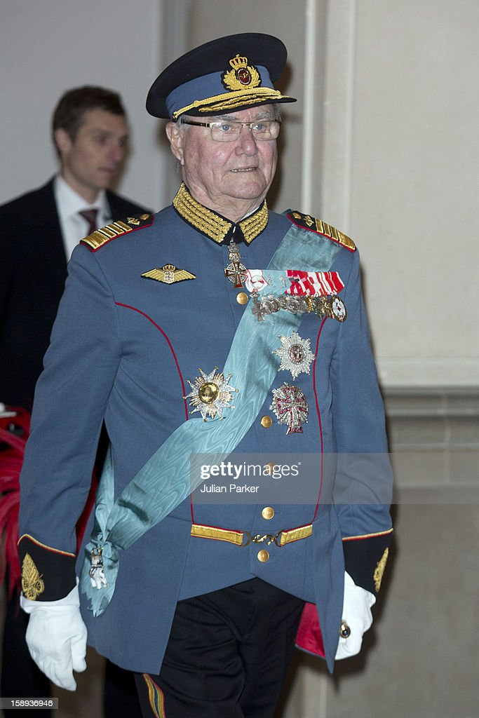 Prince Henrik of Denmark attends a New Year's Levee, for officers from the Defence and Danish Emergency management agency, and representatives from large national organizations, held by Queen Margrethe of Denmark at Christiansborg Palace on January 4, 2013 in Copenhagen, Denmark.