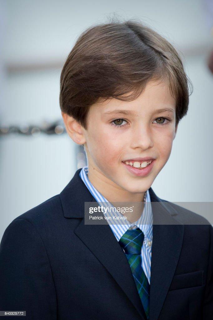Prince Henrik of Denmark attends his 18th birthday celebration of Prince Nikolai at royal ship Dannebrog on August 28, 2017 in Copenhagen, Denmark.