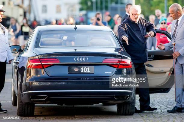 Prince Henrik of Denmark attends the 18th birthday celebration of Prince Nikolai at royal ship Dannebrog on August 28 2017 in Copenhagen Denmark