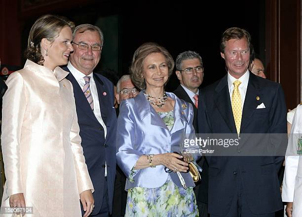 Prince Henrik Of Denmark Grand Duke Henri Of Luxembourg Crown Princess Mathilde Of Belgium And Queen Sofia Of Spain Attend The Royal Barge Procession...