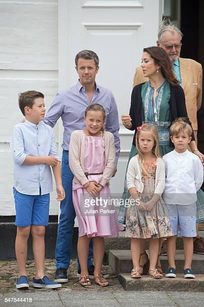 Prince Henrik of Denmark with Crown Prince Frederik and Crown Princess Mary of Denmark and Prince Christian Princess Isabella Princess Josephine and...