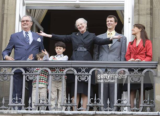 Prince Henrik Prince Joachim With His Children Prince Nikolai And Prince Felix And His Fiancee Marie Cavallier Appear On The Balcony To Celebrate...