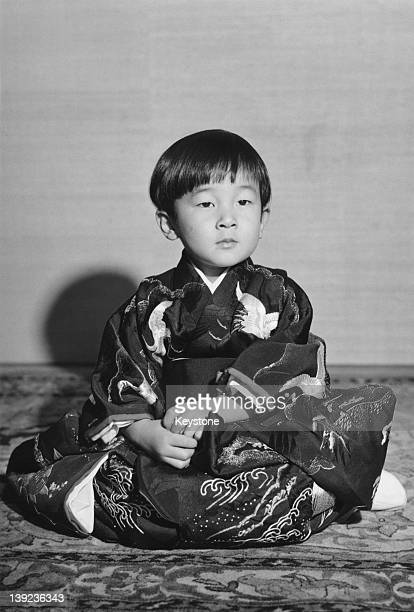 Prince Hiro aka Crown Prince Naruhito of Japan the day before his 3rd birthday 22nd February 1963