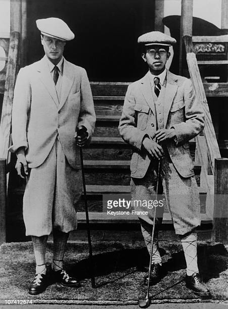 Prince Hirohito Of Japan And Prince De Galles On August 12Th 1926