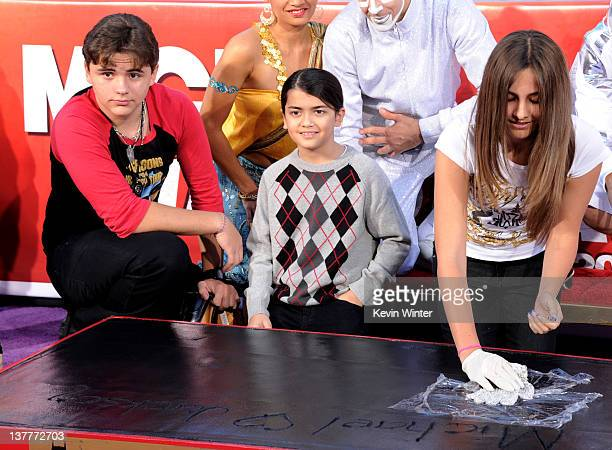 Prince Jackson Blanket Jackson and Paris Jackson appear at the Michael Jackson Hand and Footprint ceremony at Grauman's Chinese Theatre on January 26...