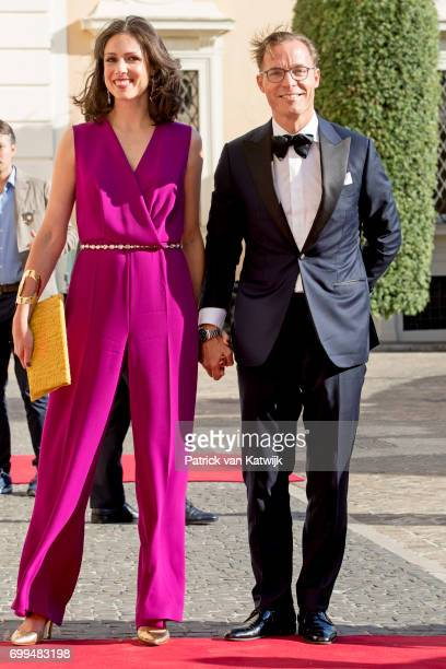 Prince Jaime de Bourbon de Parme and Princess Viktoria de Bourbon de Parme attend a concert for President Sergio Mattarella performed by Dutch...