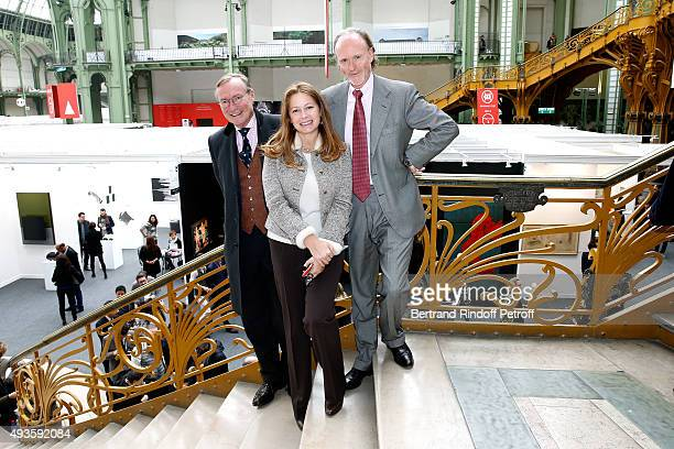 Prince Jean du Luxembourg with Prince and Princess Pierre d'Arenberg attend the 'FIAC 2015 International Contemporary Art Fair' at Le Grand Palais on...