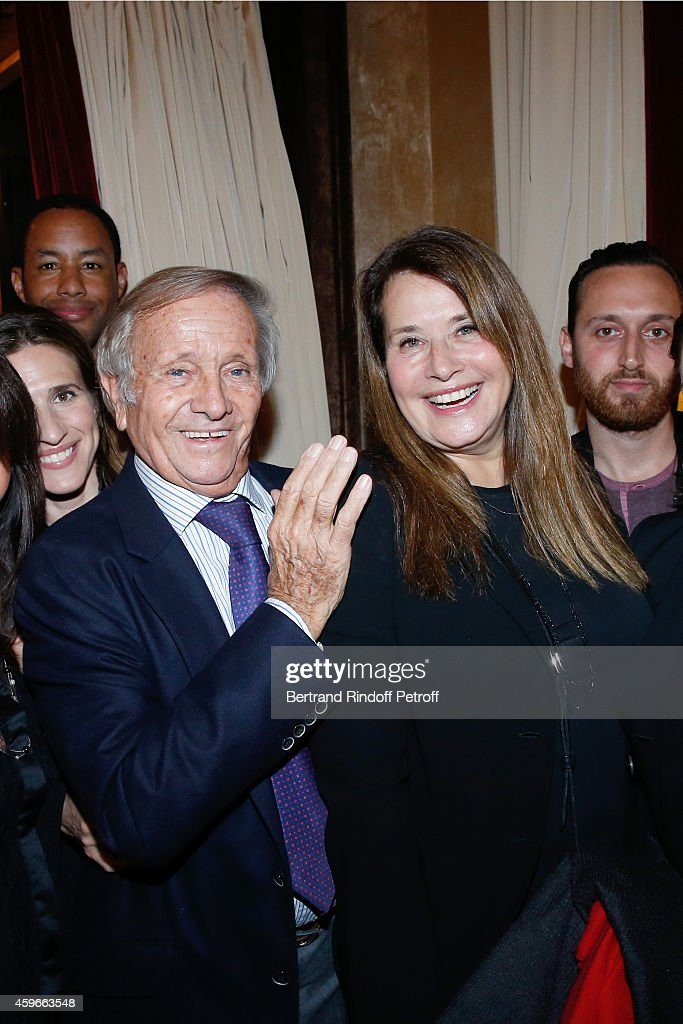 Prince Jean Poniatowski and Actress Lorraine Bracco attend the 37th Writers Cocktail, organized by Circle Maxim's Business Club in Fairs Fouquet's, on November 27, 2014 in Paris, France.