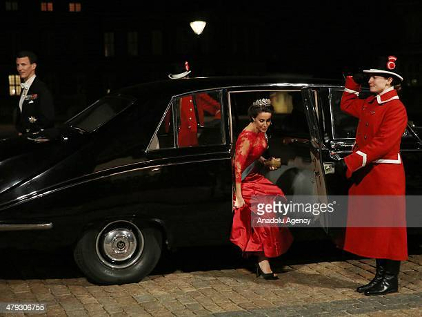 Prince Joachim and his wife Princess Marie arrive at Amalienborg Palace for a dinner in honor of Turkish President Abdullah Gul and his wife...