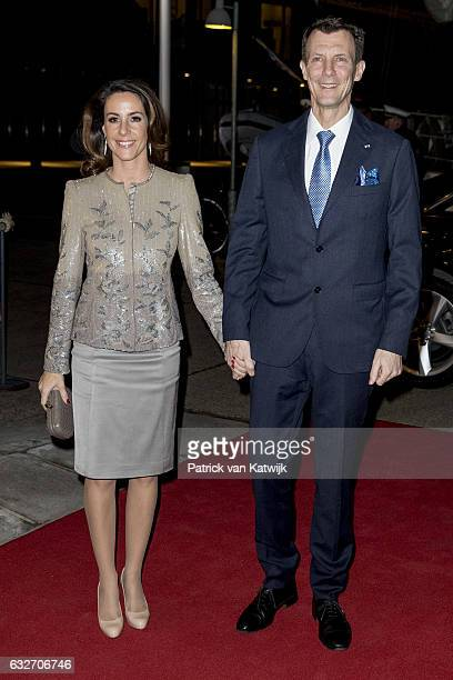 Prince Joachim and Princess Marie arrive at the Nordatlantens Brygge for the return concert offered by the president of Iceland to the Danish Queen...