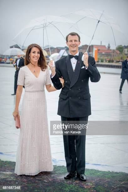 Prince Joachim and Princess Marie of Denmark arrive at the Opera House on the ocassion of the celebration of King Harald and Queen Sonja of Norway...
