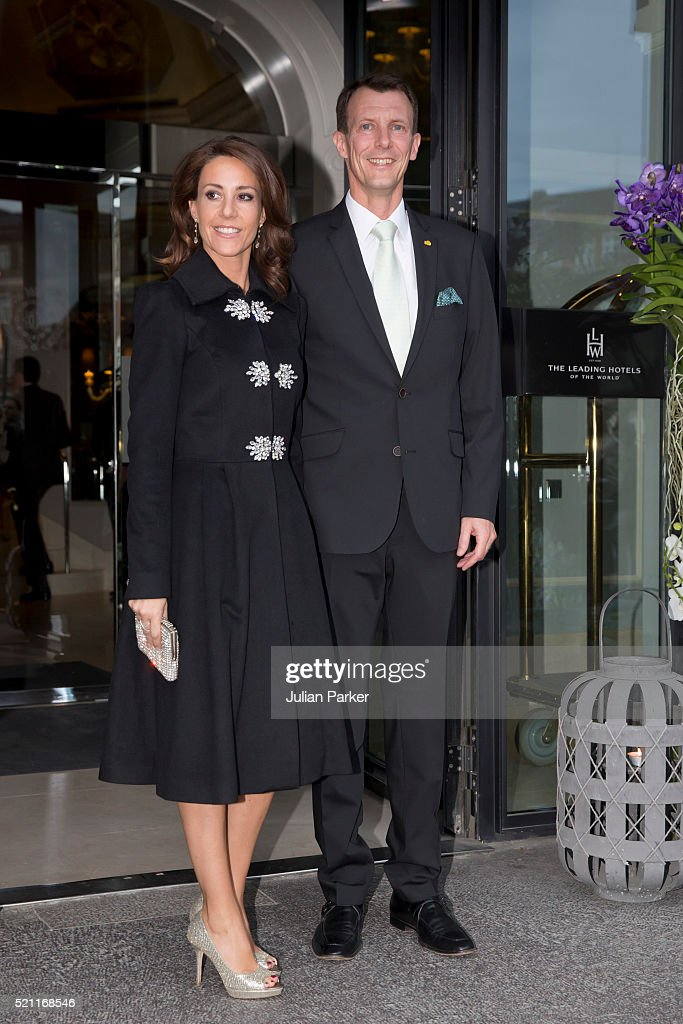 Prince Joachim, and Princess Marie of Denmark attend a return dinner at The Hotel D'Angleterre, on the second day of a State visit of the President of The United Mexican States, President Enrique Pena Nieto, and his wife Angelica Rivera to Denmark. on April 14, 2016, in Copenhagen, Denmark