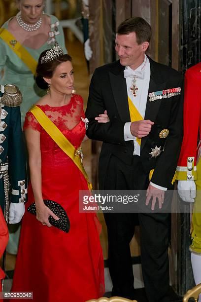 Prince Joachim and Princess Marie of Denmark attend a State Banquet at Fredensborg Palace on the first day of a State visit of the President of The...