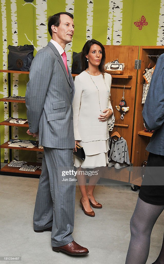 Prince Joachim and Princess Marie of Denmark visit Danish baby apparel shop in Daikanyama on November 3, 2011 in Tokyo, Japan.
