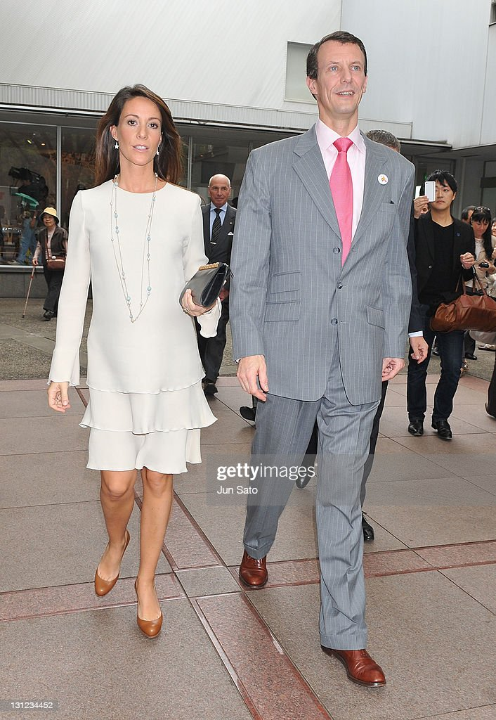 Prince Joachim and Princess Marie of Denmark visit the art workshop for the children affected by the tsunami on November 3, 2011 in Tokyo, Japan.
