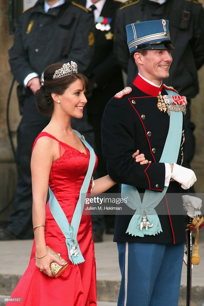 Prince Joachim of Denmark and his wife Princess Marie attend the Gala Performance in celebration of Queen Margrethe's 70th Birthday on April 15, 2010 in Copenhagen, Denmark.