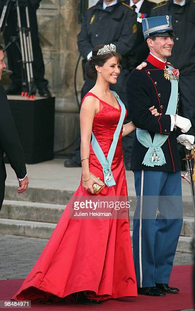 Prince Joachim of Denmark and his wife Princess Marie attend the Gala Performance in celebration of Queen Margrethe's 70th Birthday on April 15 2010...