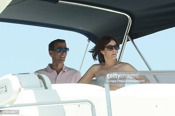 Prince Joachim of Denmark and his wife Princess Marie of Denmark are seen on June 8 2015 in Ibiza Spain