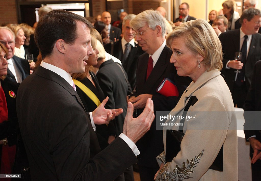 Prince Joachim of Denmark and Princess Astrid of Belgium inaugurate of Our Lady's Church on October 23, 2011 in Brussels, Belgium.