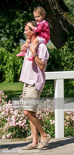 Prince Joachim of Denmark and Princess Athena of Denmark attend the annual Summer photo call for the Royal Danish family at Grasten Castle on July 24...