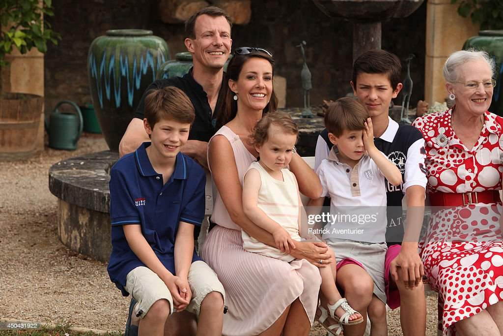 <a gi-track='captionPersonalityLinkClicked' href=/galleries/search?phrase=Prince+Joachim+of+Denmark&family=editorial&specificpeople=160198 ng-click='$event.stopPropagation()'>Prince Joachim of Denmark</a> and <a gi-track='captionPersonalityLinkClicked' href=/galleries/search?phrase=Princess+Marie+of+Denmark&family=editorial&specificpeople=5611388 ng-click='$event.stopPropagation()'>Princess Marie of Denmark</a> with <a gi-track='captionPersonalityLinkClicked' href=/galleries/search?phrase=Prince+Felix+of+Denmark&family=editorial&specificpeople=2084953 ng-click='$event.stopPropagation()'>Prince Felix of Denmark</a>, <a gi-track='captionPersonalityLinkClicked' href=/galleries/search?phrase=Prince+Henrik+of+Denmark+-+Born+2009&family=editorial&specificpeople=171788 ng-click='$event.stopPropagation()'>Prince Henrik of Denmark</a>, <a gi-track='captionPersonalityLinkClicked' href=/galleries/search?phrase=Prince+Nikolai+of+Denmark&family=editorial&specificpeople=2488916 ng-click='$event.stopPropagation()'>Prince Nikolai of Denmark</a> and <a gi-track='captionPersonalityLinkClicked' href=/galleries/search?phrase=Princess+Athena+of+Denmark&family=editorial&specificpeople=9407645 ng-click='$event.stopPropagation()'>Princess Athena of Denmark</a> attend a photocall at Chateau de Cayx on June 11, 2014 in Luzech, France.