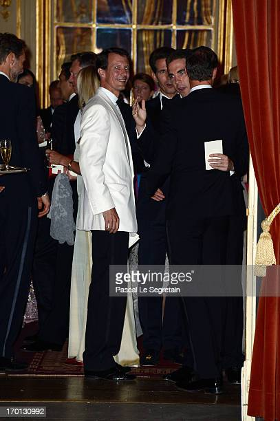 Prince Joachim of Denmark attends a private dinner on the eve of the wedding of Princess Madeleine and Christopher O'Neill hosted by King Carl XVI...