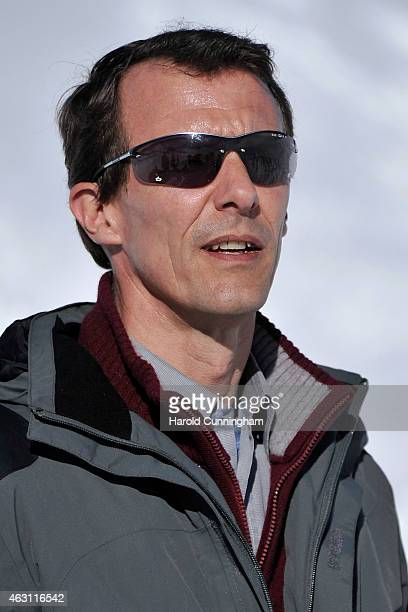 Prince Joachim of Denmark attends the Danish Royal family annual skiing photocall whilst on holiday on February 10 2015 in ColdeBretaye near...