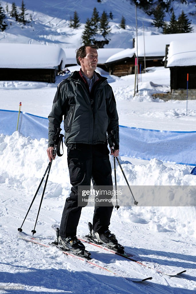 Prince Joachim of Denmark attends the Danish Royal family annual skiing photocall whilst on holiday on February 10, 2015 in Col-de-Bretaye near Villars-sur-Ollon, Switzerland.