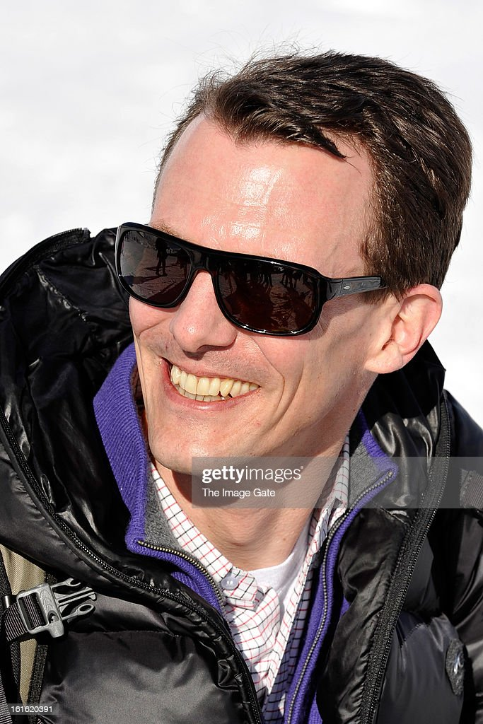 Prince Joachim of Denmark meets the press, whilst on skiing holiday in Villars on February 13, 2013 in Villars-sur-Ollon, Switzerland.