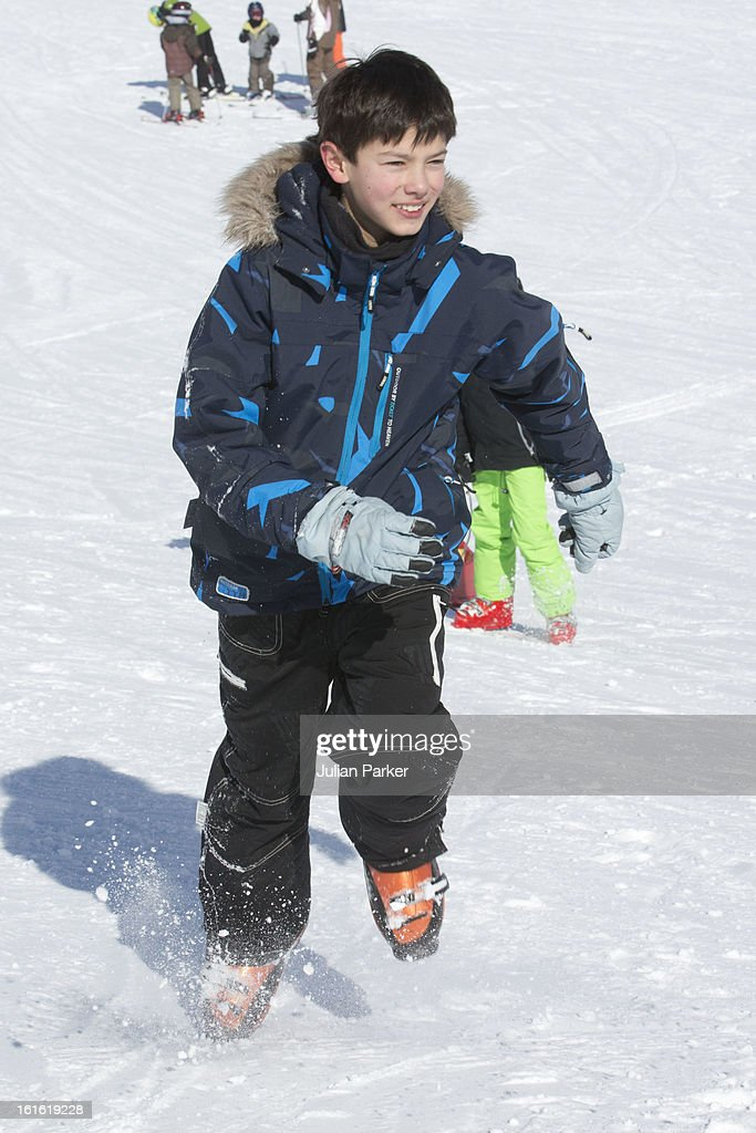 Prince Joachim of Denmark's son Prince Nikolai poses during his family's annual skiing holiday on February 13, 2013 in Villars-sur-Ollon, Switzerland.