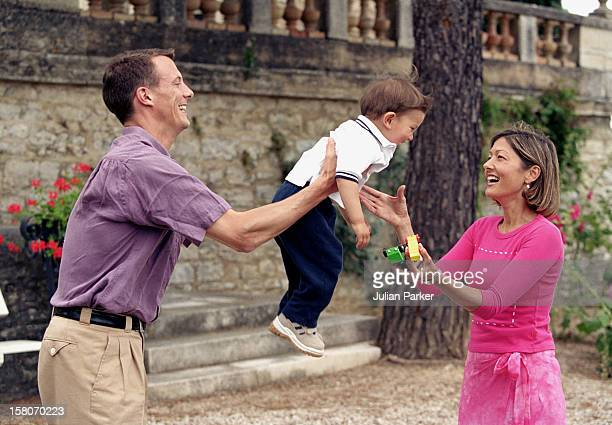 Prince Joachim Princess Alexandra Son Prince Nikolai Of Denmark At Their Summer House In Luzech France