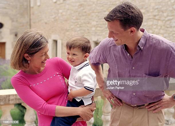 Prince Joachim Princess Alexandra Son Prince Nikolai Of Denmark At Their Summer House In Luzech France