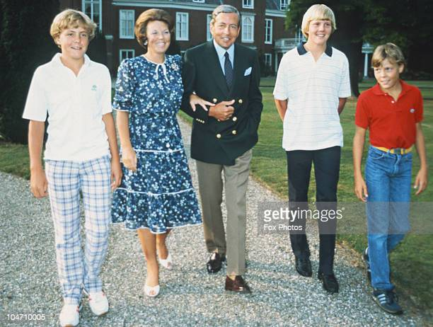 Prince Johan Friso Queen Beatrix Prince Claus Prince WillemAlexander and Prince Constantijn of the Netherlands royal family circa 1980