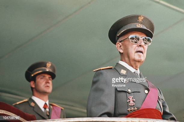 Prince Juan Carlos of Spain with dictator General Francisco Franco in 1975