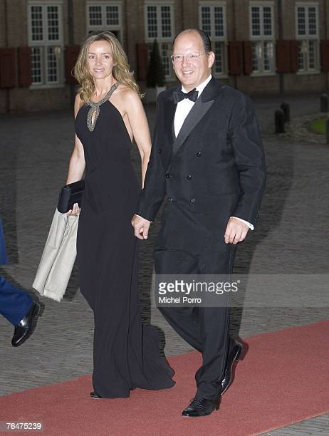 Prince Kardam and Princess Miriam of Tirnovo of Bulgaria arrive to attend celebrations marking the 40th birthday of Dutch Crown Prince Willem...