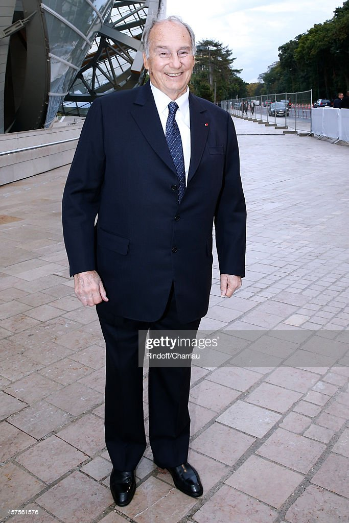 Prince Karim Aga Khan attends the Foundation Louis Vuitton Opening at Foundation Louis Vuitton on October 20, 2014 in Boulogne-Billancourt, France.