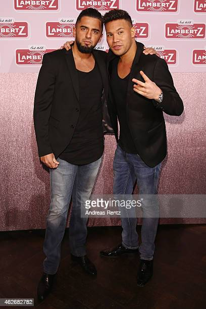 Prince Kay One and guest arrive for the Lambertz Monday Night 2015 at Alter Wartesaal on February 2 2015 in Cologne Germany