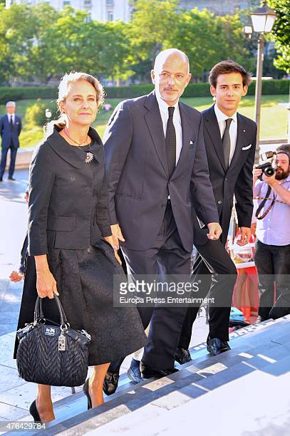 Prince Kubrat of Bulgaria and Carla RoyoVillanova attend the memorial service for Prince Kardam of Bulgaria at San Jeronimo el Real church on June 8...