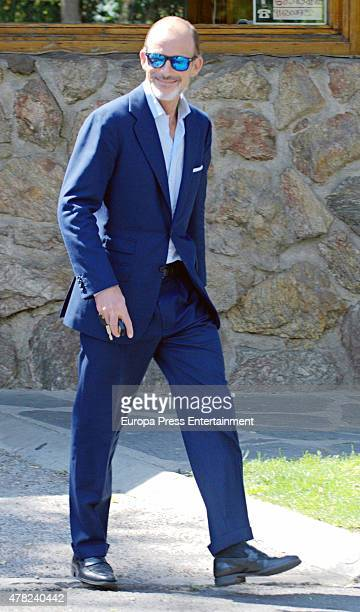 Prince Kyril of Bulgaria is seen leaving Princess Miriam de Ungria's home after having lunch the same day of the funeral of her husband Prince Kardam...