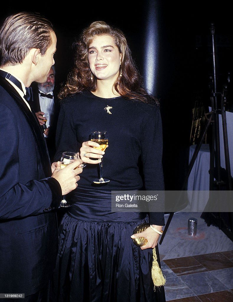 Prince Kyril of Saxe-Coburg and actress Brooke Shields attend Christian Lacroix's Couture Collection Fashion Show and Cocktail Party to Benefit the Society of Memorial Sloan-Kettering Cancer Center on October 28, 1987 at the World Financial Center in New York City.