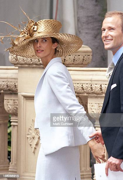 Prince Kyril Princess Rosario Of Bulgaria Attends The Wedding Of Princess Alexia Of Greece And Carlos Morales Quintana At The St Sophia Cathedral In...