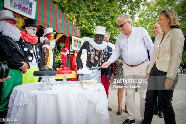 Prince Laurent of Belgium and Princess Claire of Belgium attend the festivities in the Warandepark on the occasion of the Belgian National Day in the...